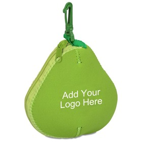 "Customized Neoprene Pear Fruit Bag, 5-1/2"" H x 5"" W, Price/Piece"