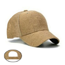 Blank Burlap Novelty Trucker Cap, One Size