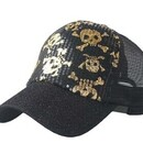 Personalized Shiny Skeleton Design Foam Truker Cap