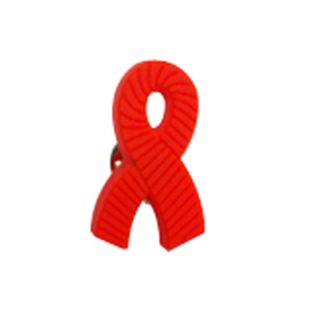 "Aids Grosgrain Awareness Ribbon Stock Lapel Pins, Up to 1"", Price/Piece"
