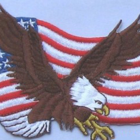 "Embroidered Personalized National Emblem for States, 1.6"", Price/Piece"