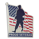 Patriotic Proud Veteran Pin