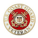 U.S. Coast Guard Veteran Pin, Size 1 Inch