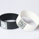 Customized Wide Silicone Bands with QR Code, Size 1 Inch