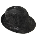 Opromo Adult Solid Color Sequins Trilby Fedora Hat Stage Party Jazz Dancing Hat