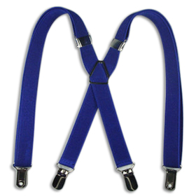 "TopTie 27"" Adorable Child Size X-Back Suspenders - Navy Blue"