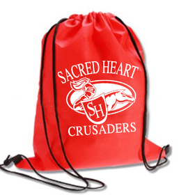 "Custom School Drawstring Backpack, 15.7""H x 13.8""W, Price/Piece"