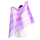 BellyLady Belly Dance Chiffon Veil For Belly Dancers, Purple With Blue
