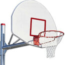 "MacGregor 90&#176 Offset Adjustable Post, Outdoor, Standards, Basketball - 3 1/2"" Post - Silver Backboard W/O Shooter's Square only"