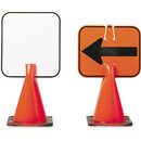 Arrow Sign Co Plastic Clip-On Cone Sign - Blank only