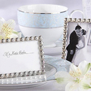 Idoo Silver Pearl Place Card Holders, Mini Photo Frame