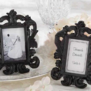 Idoo Black & White Baroque Elegant Place Card Holder, Photo Frame