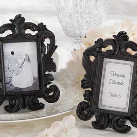 Black & White Baroque Elegant Place Card Holder, Photo Frame, Graduation Gift, Price/20 Pcs