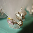 Idoo Swan Wedding Favor Boxes With White Organza Bags