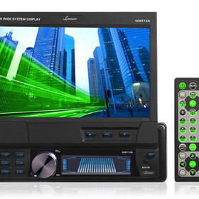 "Lanzar 7"" Single Din In-Dash Motorized Touch Screen TFT/LCD Monitor With DVD/CD/MP3/MPEG4/USB/SD/AM/FM/RDS Receiver, Price/Unit"