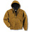 Carhartt 2X Regular Brown Quilted Flannel Lined 12 Ounce Cotton Sandstone Duck Active Jacket