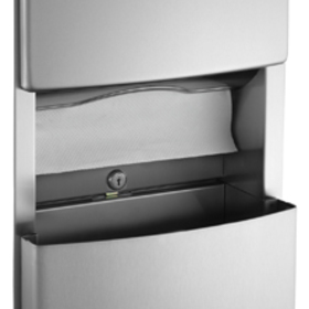 ASI 204623-9 Surface Mounted Paper Towel Dispenser And Removable Waste Receptacle