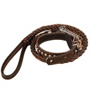 GOGO Dog Collar And Braided Leash Set, Adjustable Faux Leather Collar