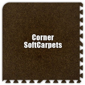 Alessco SoftCarpets SCBN0202C, Brown, 2' x 2' Corner / Each, Total Piece: 1