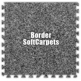 Alessco SoftCarpets SCLG0202B, Light Grey, 2' x 2' Border / Each, Total Piece: 1
