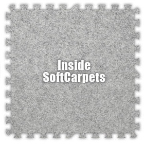 Alessco SoftCarpets SCSE0202I, Smoke, 2' x 2' Inside / Each