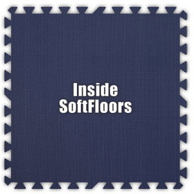 Alessco SoftFloors SFNB0202I, Navy Blue, 2' x 2' Inside / Each