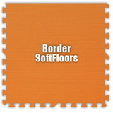 Alessco SoftFloors SFOE0202B, Orange, 2' x 2' Border / Each, Total Piece: 1