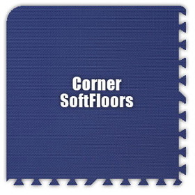 Alessco SoftFloors SFRB0202C, Royal Blue, 2' x 2' Corner / Each, Total Piece: 1