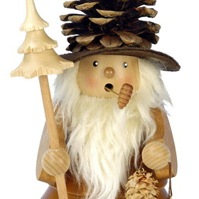 ULBR Smoker Pinecone Man Nat. Each (Item number: 1-957)