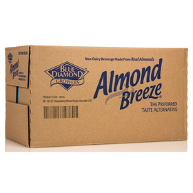 Blue Diamond Almond Breeze, Unsweetened Chocolate - 12 x 32 ozs.