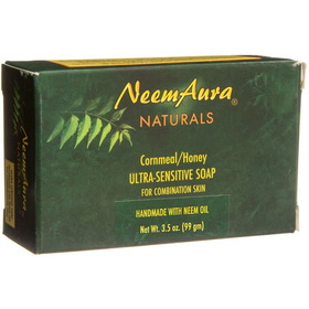 Neem Aura Handmade Soap, Cornmeal & Honey - 3.75 ozs.