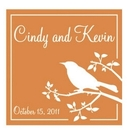 Bird Silhouette Personalized Tag, Gray