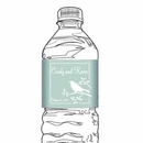 Bird Silhouette Water Bottle Label, Red