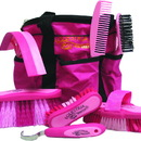 Desert Equestrian Equestria Sport Series Boxed Grooming Set - Pink - 8 Piece