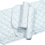 Imported Horse &Supply Quilted Leg Wrap For Horses - White - 12 Inch/4 Pack