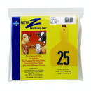 Z Tags North America Z Ags Numbered Cow Tags - Yellow - Numbers 1-25