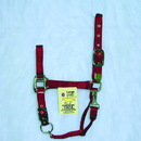Hamilton Adjustable Chin Horse Halter With Snap - Red - Large