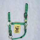 Hamilton Adjustable Chin Horse Halter With Snap - Green - Small