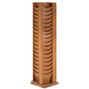 BUDDY PRODUCTS 0616-11 Solid Oak 72 Pocket Rotating Display Rack