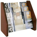 BUDDY PRODUCTS 0658-11 Wood Back/ Acrylic Pocket Brochure Rack, Medium Oak