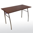 BUDDY PRODUCTS 6426-3 Workstation with Wood grain Laminate Top, Silver