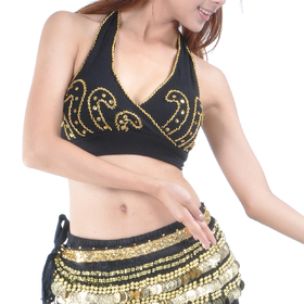 BellyLady Belly Dance Bead Embroidery Halter Bra Top