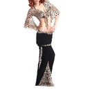 BellyLady Belly Dance Leopard Print Wrap Top