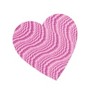 Beistle 77790-EP Embossed Foil Heart Cutout