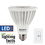 Bulbrite LED14PAR30NF/L/40K/D 14-Watt Dimmable LED BR30, Medium (E26) Base, Cool White