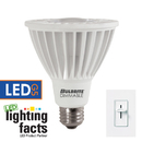 Bulbrite LED14PAR30WFL/L/40K/D 14-Watt Dimmable LED PAR30, Medium (E26) Base, Cool White