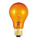Bulbrite 25A/TO-12PK 25-Watt Incandescent Standard A19, Medium Base, Transparent Orange, 12-Pack
