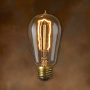 Bulbrite NOS40-1890-6PK 40-Watt Nostalgic Incandescent Edison ST18, Hairpin Filament, Medium Base, Antique, 6-Pack