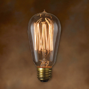 Bulbrite NOS40-1910-6PK 40-Watt Nostalgic Incandescent Edison ST18, Thread Filament, Medium Base, Antique, 6-Pack