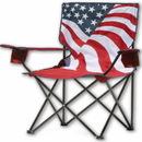 Quik Chair 133924 US Flag Folding Camp Chair- Flag